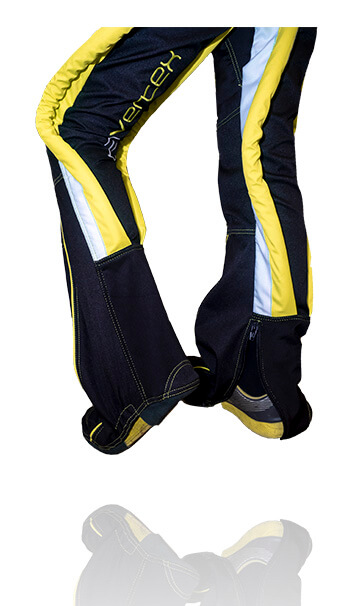 Front photo of our Bootie skydiving Trousers. This suit has been specifically designed for people who want to change quickly between skydiving suits.