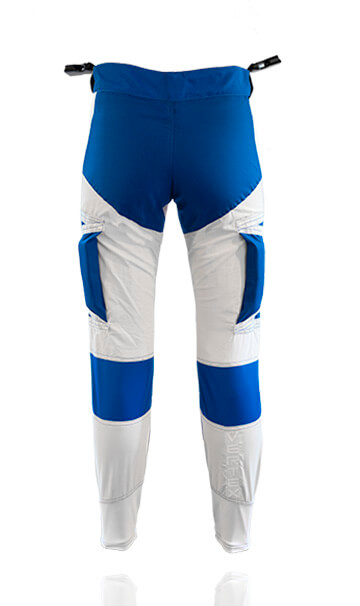 Back photo of our freefly pants / trousers. These trousers have been specifically designed for professional skydiving instructors.