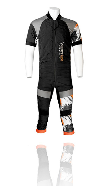 Vertex Sky Sports UK - FLEX Shorty freefly skydiving suit. The best custom freefly summer skydive suit.