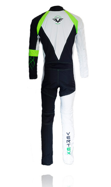 The back of our FF pro freefly skydive / skydiving  suit by Vertex sky sports UK