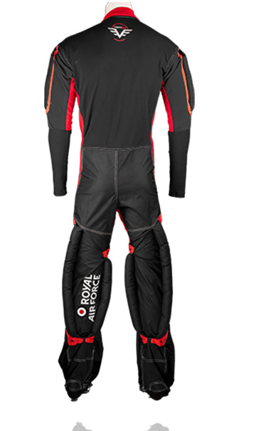 Back photo of our RW formation skydive /skydiving suit. Made by UK based skydiving company Vertex sky sports making suits for countries all around the world including USA, Germany, France, Australia and many more.