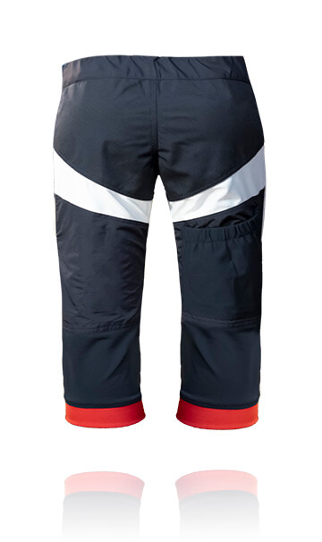 Back photo of our skydive / skydiving swoop shorts. These are designed for professional skydiving.