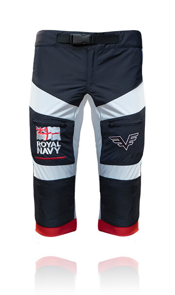 Front photo of our skydive / skydiving swoop shorts. These are designed for professional skydiving.