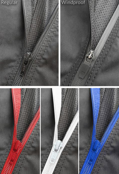 YKK windproof zip
